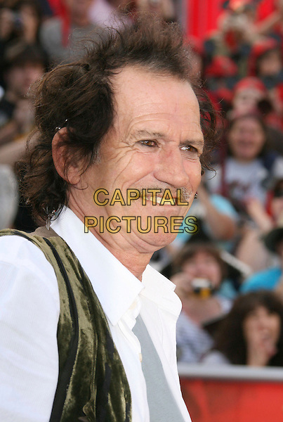 "KEITH RICHARDS.""Pirates Of The Caribbean: At World's End"" World Premiere held at Disneyland, Anaheim, California, USA,.May 19th, 007.3 headshot portrait mustache facial hair profile.CAP/ADM/RE.©Russ Elliot/AdMedia/Capital Pictures"