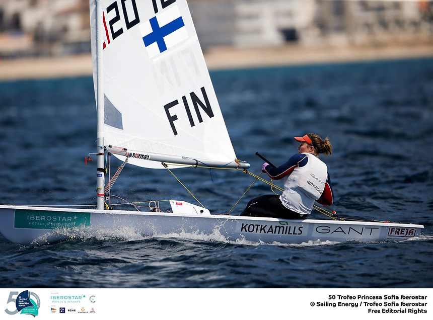 The Trofeo Princesa Sofia Iberostar celebrates this year its 50th anniversary in the elite of Olympic sailing in a record edition, to be held in Majorcan waters from 29th March to 6th April, organised by Club Nàutic S'Arenal, Club Marítimo San Antonio de la Playa, Real Club Náutico de Palma and the Balearic and Spanish federations. ©PEDRO MARTINEZ/SAILING ENERGY/50th Trofeo Princesa Sofia Iberostar<br /> 02 April, 2019.