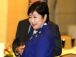 October 3, 2017, Tokyo, Japan - Tokyo Governor Yuriko Koike attends the reception for the the seventh IOC project review in Tokyo on Tuesday, October 3, 2017.  Koike's new political party unveiled the first batch of their candidates for the upcoming general election.   (Photo by Yoshio Tsunoda/AFLO) LWX -ytd-