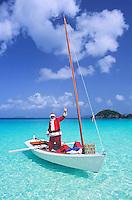 Caribbean Santa Claus.Trunk Bay, St. John.Virgin Islands National Park
