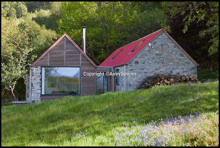 BNPS.co.uk (01202 558833)<br /> Pic: AireySpaces/BNPS<br /> <br /> A dilapidated former shepherd's cottage has been transformed by an architect couple to create a stunning remote bolthole.<br /> <br /> The near-derelict structure had an earth floor and a rotten roof but is now a stylish and cosy three-bedroom house.<br /> <br /> Gillian Scampton and Andrew Barnett, who both work as architects in London, bought Fernaig Cottage in the north-west Highlands of Scotland in 2012 and completed the project last year.<br /> <br /> The quirky build has now been shortlisted for the RIBA (Royal Institute of British Architects) House of the Year Award.