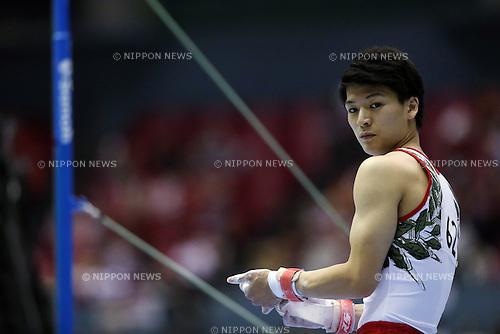 Naoto Hayasaka (JPN), AUGUST 1, 2015 - Artistic Gymnastics : The 6th Asian Gymnastics Championships Men's Individual All-Around and Team Horizontal Bar in Hiroshima, Japan. <br /> (Photo by Jun Tsukida/AFLO SPORT)