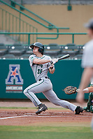 Dartmouth Big Green center fielder Trevor Johnson (36) hits a single during a game against the USF Bulls on March 17, 2019 at USF Baseball Stadium in Tampa, Florida.  USF defeated Dartmouth 4-1.  (Mike Janes/Four Seam Images)