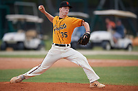 Jason Woodward (35) during the WWBA World Championship at the Roger Dean Complex on October 12, 2019 in Jupiter, Florida.  Jason Woodward attends Titusville High School in Titusville, FL and is committed to Florida Gulf Coast.  (Mike Janes/Four Seam Images)