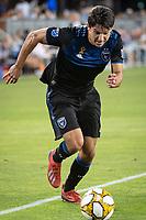 SAN JOSE, CA - SEPTEMBER 25: Shea Salinas #6 of the San Jose Earthquakes during a game between Philadelphia Union and San Jose Earthquakes at Avaya Stadium on September 25, 2019 in San Jose, California.
