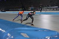SCHAATSEN: AMSTERDAM: Olympisch Stadion, 09-03-2018, WK Allround, Coolste Baan van Nederland, 3000m Ladies, Antoinette de Jong (NED), Ivanie Blondin (CAN), ©foto Martin de Jong