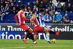 League Santander 2017-2018 - Game: 15.<br /> RCD Espanyol vs Girona FC: 0-1.<br /> Pablo Maffeo vs Gerard Moreno.