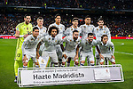 Players of Real Madrid line up and pose for a photo during their Copa del Rey Round of 16 match between Real Madrid and Sevilla FC at the Santiago Bernabeu Stadium on 04 January 2017 in Madrid, Spain. Photo by Diego Gonzalez Souto / Power Sport Images