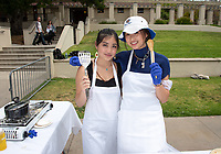 Team Asian Persuasion<br /> Six student teams battle to win the Iron Chef competition as part of Earth Month on Thursday, April 11, 2019 in the JSC Quad. Event MC, Amos Himmelstein, provided play-by-play of the action. Their task was to create the best vegetarian or vegan starter and sauté dishes. A wide variety of fresh organic produce (some freshly picked at the FEAST garden), FEAST eggs, spices, oils AND one secret ingredient were at the team's disposal.<br /> Chef Brad Kent, owner of Olio GCM Wood Fired Pizzeria at Grand Central Market and co-Founder/chief culinary officer for Blaze Pizza, is this year's guest judge.<br /> The contest is led by FEAST and supported by Campus Dining, Facilities Management, RESF, and the Office of the President.<br /> (Photo by Marc Campos, Occidental College Photographer)