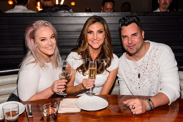 LAS VEGAS, NEVADA - SEPT. 12, 2016 Lacey Schwimmer, Heather McDonald and Frankie Moreno pictured as Comedienne Heather McDonald Hosts STK Las Vegas' Fourth Annual White Party, at The Cosmopolitan of Las Vegas  in Las Vegas, NV, on September 12, 2016 Credit: GDP Photos/ MediaPunch