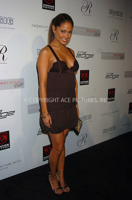WWW.ACEPIXS.COM . . . . .  ....August 30, 2006, New York City. ....Vanessa Minnillo attends Nick Lachey Pre-VMA Party. ....Please byline: AJ Sokalner - ACEPIXS.COM..... *** ***..Ace Pictures, Inc:  ..(212) 243-8787 or (646) 769 0430..e-mail: info@acepixs.com..web: http://www.acepixs.com
