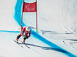 PyeongChang 11/3/2018 - Mollie Jepsen skis in the women's standing super-G at the Jeongseon Alpine Centre during the 2018 Winter Paralympic Games in Pyeongchang, Korea. Photo: Dave Holland/Canadian Paralympic Committee