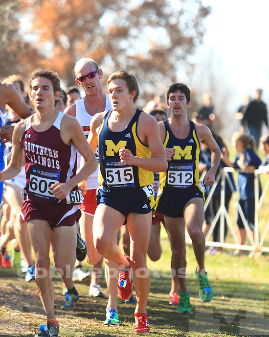 The University of Michigan men's cross country finished 23rd at the NCAA Championships at E.P. Sawyer State Park in Louisville, Ky., on November 17, 2012.