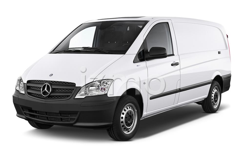2013 Mercedes Benz Vito 113CDi SWB Long 4 Door Cargo Van 2WD Angular Front stock photos of front three quarter view