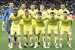 Villareal's team photo with Sergio Asenjo, Adrian Lopez, Daniele Bonera, Denis Suarez, Eric Bailly, Bruno Soriano, Cedric Bakambu, Jonathan dos Santos, Manu Trigueros, Mario Gaspar and Antonio Rukavina during La Liga match. April 20,2016. (ALTERPHOTOS/Acero)