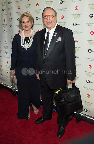 WASHINGTON, DC - SEPTEMBER 17: Honoree Arturo Sandoval and wife attend the 28th Annual Hispanic Heritage Awards at the Historic Warner Theatre in Washington, on  September 17, 2015 Photo Credit: Morris Melvin / Retna Ltd. /MediaPunch