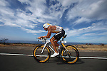 KONA, HI - OCTOBER 8:   A competitor competes in the 2011 Ford Ironman World Championship on October 8, 2011 in Kona, Hawaii. (Photo by Donald Miralle) *** Local Caption ***