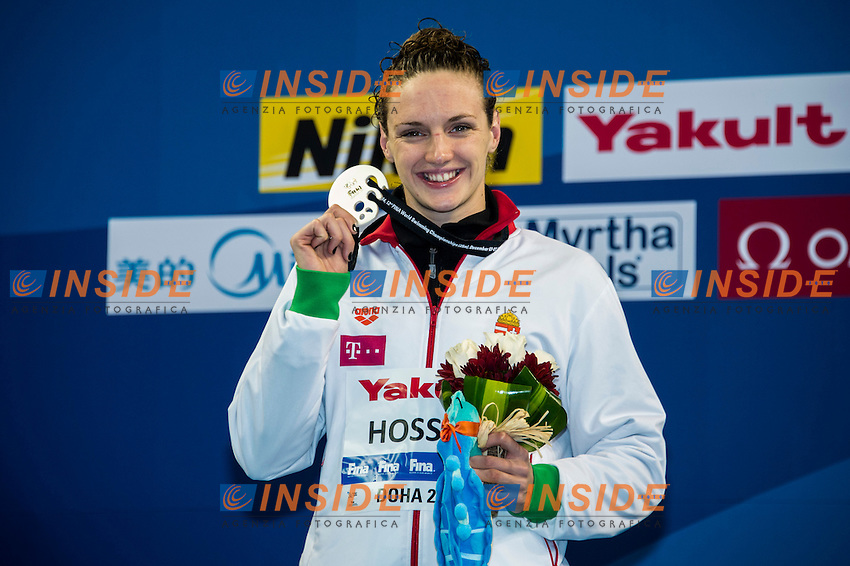 HOSSZU Katinka HUN Silver Medal<br /> Women's 200m Butterfly Final<br /> Doha Qatar 03-12-2014 Hamad Aquatic Centre, 12th FINA World Swimming Championships (25m). Nuoto Campionati mondiali di nuoto in vasca corta.<br /> Photo Giorgio Scala/Deepbluemedia/Insidefoto
