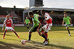 Ryan Flynn of Sheffield Utd brought down in the penalty area by Amari Bell of Fleetwood Town to earn a penalty - English League One - Fleetwood Town vs Sheffield Utd - Highbury Stadium - Fleetwood - England - 5rd March 2016 - Picture Simon Bellis/Sportimage