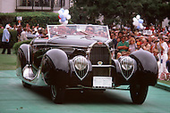 August 26th, 1984. 1939 Bugatti Type 57C Figoni and Falaschi Cabriolet.