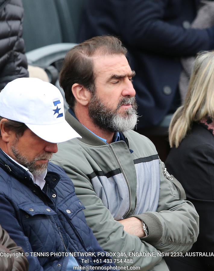 ERIC CANTONA, EX-FOOTBALLER<br /> <br /> TENNIS - FRENCH OPEN - ROLAND GARROS - ATP - WTA - ITF - GRAND SLAM - CHAMPIONSHIPS - PARIS - FRANCE - 2016  <br /> <br /> <br /> <br /> &copy; TENNIS PHOTO NETWORK