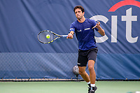 Washington, DC - August 3, 2019:  Marcelo Melo (BRA) in action during the  Men Doubles semi finals at William H.G. FitzGerald Tennis Center in Washington, DC  August 3, 2019.  (Photo by Elliott Brown/Media Images International)