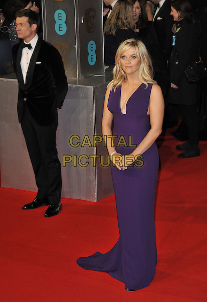 LONDON, ENGLAND - FEBRUARY 08: Ed Speleers &amp; Reese Witherspoon attend the EE British Academy Film Awards 2015, Royal Opera House, Covent Garden, on Sunday February 08, 2015 in London, England, UK. <br /> CAP/CAN<br /> &copy;Can Nguyen/Capital Pictures