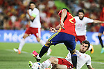 Spain's Nolito and Georgia's Lobzhanize during the up match between Spain and Georgia before the Uefa Euro 2016.  Jun 07,2016. (ALTERPHOTOS/Rodrigo Jimenez)