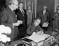 Le Premier Ministre, Jean-Jacques Bertrand<br />  Entre le 14 et le 20 juillet 1969<br /> <br /> Photo : Photo Moderne - © Agence Quebec Presse
