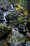 Small waterfall near Sooke potholes, Vancouver Island, BC