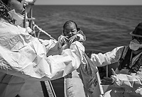 30-07-2016. Baby girl birth aboard ship BETTICA the Italian Navy.  Pink bow on the Bettica ship of the Navy, unit inserted in the device national maritime surveillance sea safely. To 5.18 of 30 July it was born the small Joy Aurora daughter of a pair of Congo saved together with other 870 migrants in the Mediterranean Sea. During the phases of childbirth mother and child have received the care of healthcare team on board composed of a midwife, a doctor and a nurse of the Fondazione Francesca Rava, a nurse of the Italian Red Cross and the medical staff of the Italian Navy; mom and daughter are in excellent health condition. It is the third happy event aboard ship Bettica at a short distance from the birth of small Francois Manuel born last 27 June, and Manuela, born on 5 July.