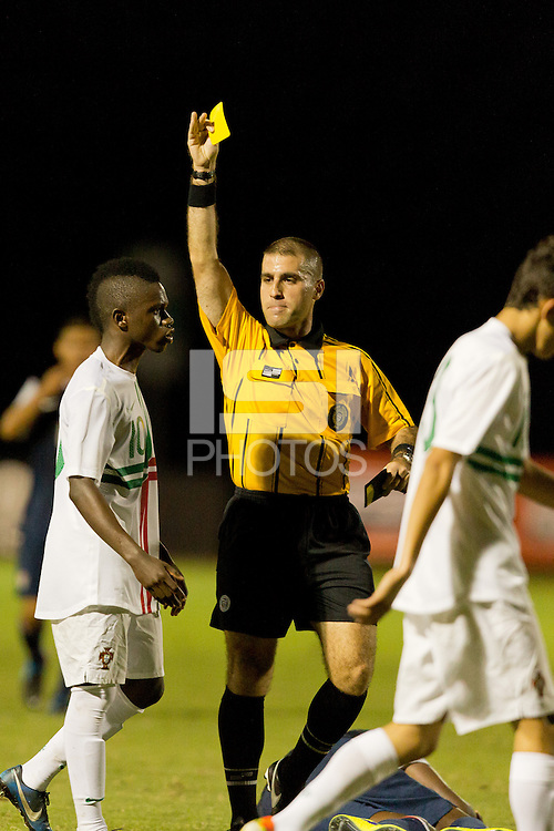 Lakewood Ranch, Fla. - December 9, 2013: 2013 US Soccer U17 Nike International Friendlies. Portugal defeated USMNT U17's 2-1 at the Premier Sports Campus.
