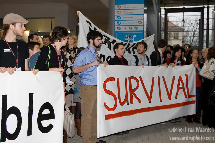 Survival is not negotiable. UNFCCC COP 14 (©Robert vanWaarden ALL RIGHTS RESERVED)