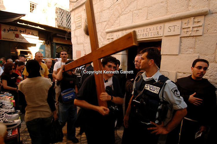 Pilgrims in Old City Jerusalem follow the stations of the cross, Israel, Gospel of Judas; Codex Tchacos; Critical Edition, Gnostic text;Geneva
