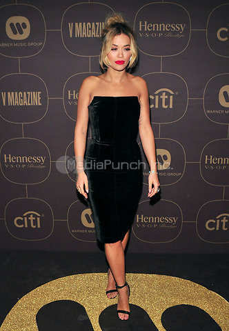 NEW YORK, NY - JANUARY 25: Rita Ora at the  Warner Music Group Pre Grammy Celebration at The Grill/The Pool in New York City on January 25, 2018. Credit: John Palmer/MediaPunch