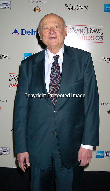 Mayor Ed Koch at the 2003 New York Magazine Awards on December 15, 2003 at the Four Seasons Restaurant . Photo by Robin Platzer, Twin Images