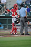 Memphis Redbirds Alberto Rosario (37) during the Pacific Coast League game against the Iowa Cubs at Principal Park on June 6, 2016 in Des Moines, Iowa.  Memphis won 6-2.  (Dennis Hubbard/Four Seam Images)
