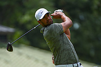 Tony Finau (USA) watches his tee shot on 4 during Rd4 of the 2019 BMW Championship, Medinah Golf Club, Chicago, Illinois, USA. 8/18/2019.<br /> Picture Ken Murray / Golffile.ie<br /> <br /> All photo usage must carry mandatory copyright credit (© Golffile | Ken Murray)