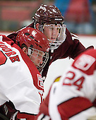 Colin Moore (Harvard - 12), Brian Day (Colgate - 12) - The Harvard University Crimson defeated the visiting Colgate University Raiders 6-2 (2 EN) on Friday, January 28, 2011, at Bright Hockey Center in Cambridge, Massachusetts.