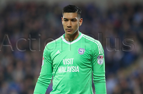 26th September 2017, Cardiff City Stadium, Cardiff, Wales; EFL Championship football, Cardiff City versus Leeds United; Neil Etheridge of Cardiff City pleased with the result