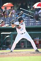 Zach Welz (44) of the Inland Empire 66ers bats against the Visalia Rawhide at San Manuel Stadium on June 26, 2016 in San Bernardino, California. Inland Empire defeated Visalia, 5-1. (Larry Goren/Four Seam Images)