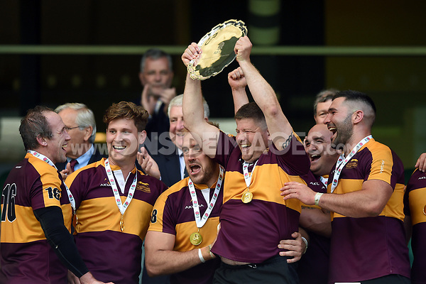 Shaun Murray of Leicestershire celebrates. Bill Beaumont County Championship Division 2 Final between Surrey and Leicestershire on June 8, 2019 at Twickenham Stadium in London, England. Photo by: Patrick Khachfe / Onside Images