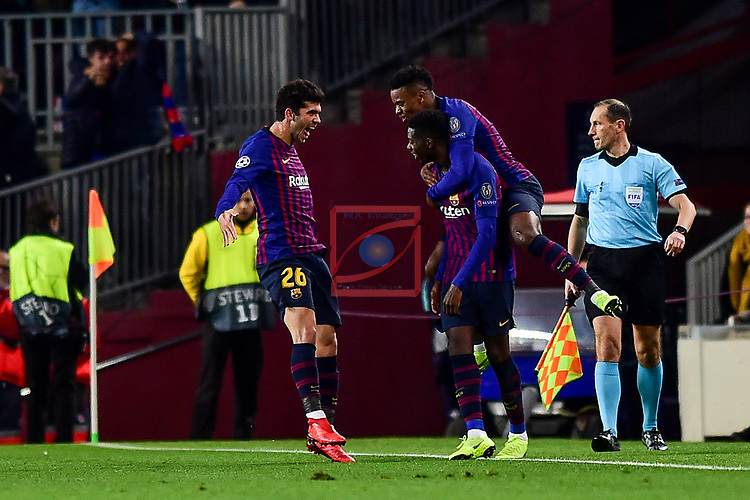 UEFA Champions League 2018/2019 - Matchday 6.<br /> FC Barcelona vs Tottenham Hotspur FC: 1-1.<br /> Dembele, Semedo & Aleña.
