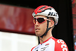 Jelle Wallays (BEL) Lotto-Soudal at sign on before the start of Stage 4 of La Vuelta 2019 running 175.5km from Cullera to El Puig, Spain. 27th August 2019.<br /> Picture: Eoin Clarke | Cyclefile<br /> <br /> All photos usage must carry mandatory copyright credit (© Cyclefile | Eoin Clarke)