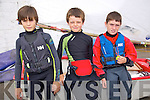 Sean Caplis, Stephen Cunnane, Rory Carroll enjoying The Fenit Sailing School Munster optimist Competition on Saturday