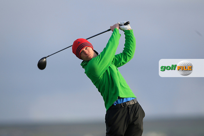 Philip Spratt (West Waterford) on the 2nd tee during Round 2 of the South of Ireland Amateur Open Championship at LaHinch Golf Club on Thursday 23rd July 2015.<br /> Picture:  Golffile | Thos Caffrey