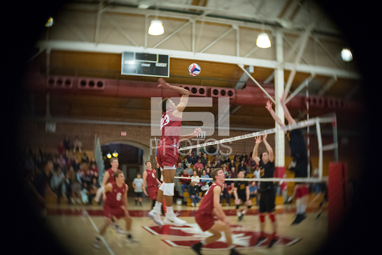STANFORD, CA - December 30, 2017: Jaylen Jasper at Burnham Pavilion. The Stanford Cardinal defeated the Calgary Dinos 3-1.