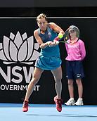 11th January 2018, Sydney Olympic Park Tennis Centre, Sydney, Australia; Sydney International Tennis,quarter final; Barbora Strycova (CZE) in her match against Ashley Barty (AUS)