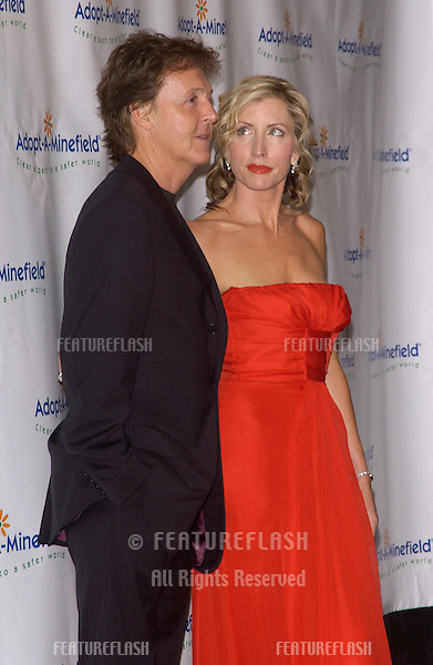SIR PAUL McCARTNEY & wife HEATHER MILLS McCARTNEY at the 4th Annual Adopt-A-Minefield Gala at the Century Plaza Hotel, Beverly Hills, California..October 15, 2004
