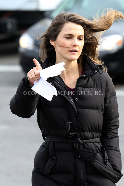 WWW.ACEPIXS.COM....January 2 2012, New York City....Actress Kerri Russell arrives at the set of the new TV show 'The Americans' on January 2 2013 in New York City........By Line: Zelig Shaul/ACE Pictures......ACE Pictures, Inc...tel: 646 769 0430..Email: info@acepixs.com..www.acepixs.com